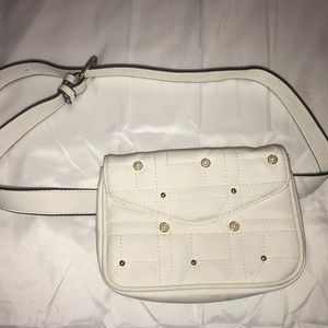 White Belted Fanny Pack